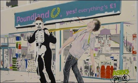 A Pounding Outside Poundland by Stuart Semple