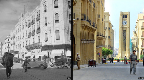 Beirut from the 1950s and the new city centre