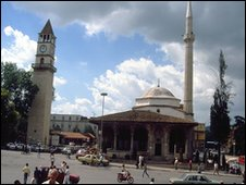 Main mosque in central Tirana