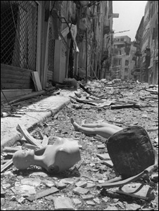 Beirut during the civil war (photo from 7 May 1976)
