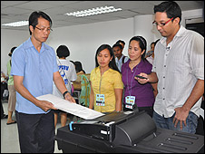 Testing voting machine