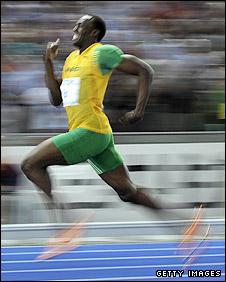 Usain Bolt at the Berlin World championships