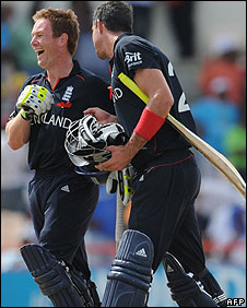 Eoin Morgan and Kevin Pietersen