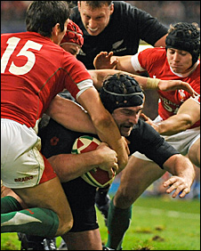 Andrew Hore scores against Wales in November, 2009