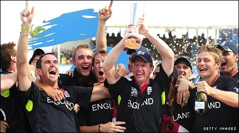 England celebrate