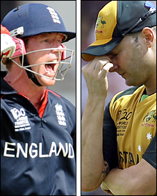 Paul Collingwood and Michael Clarke