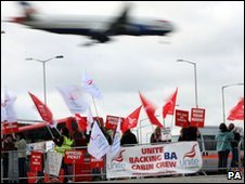 Striking cabin crew (file photo)
