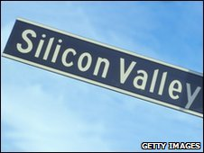 A street sign reading 'Silicon Valley'