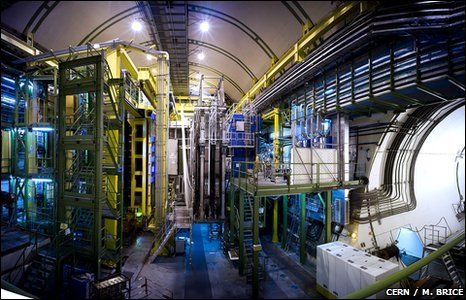 LHCb cavern in 2009 (Cern)