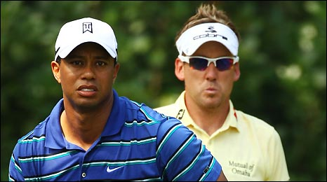 World number one Tiger Woods is being tailed by golf's chasing pack
