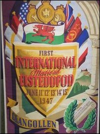 Poster for the first ever Llangollen eisteddfod