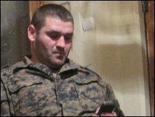 Nodar in military fatigues