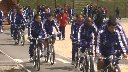France's World Cup squad go for a ride