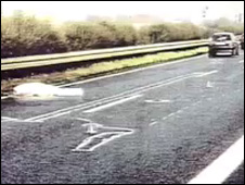 Jeremiah Duggan's body on the motorway