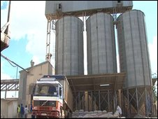 A milling plant in Zambia