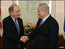 George Mitchell and Benjamin Netanyahu