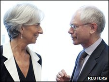 Christine Lagarde and Herman Van Rompuy