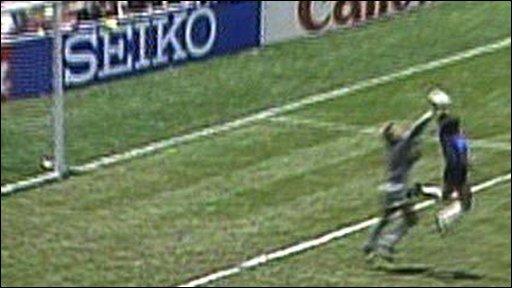 Diego Maradona's infamous 'hand of God' goal