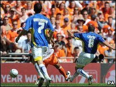 Michael Chopra opens the scoring for Cardiff