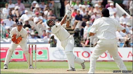 Shahid Afridi playing against England