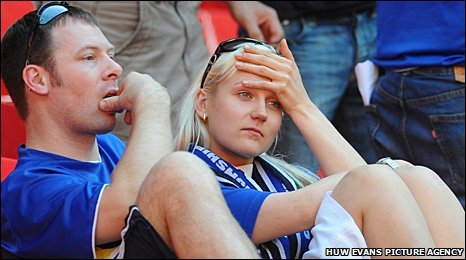 Cardiff fans are apprehensive over the club's future following Championship play-off final defeat by Blackpool