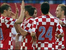 Croatia celebrate their victory
