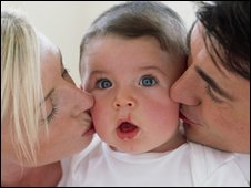 Baby and parents
