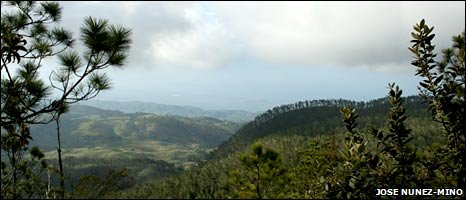 View of the Sierra de Bahoruco