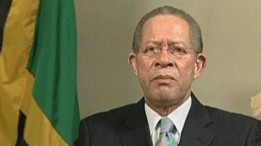 Jamaica&amp;apos;s Prime Minister Bruce Golding 