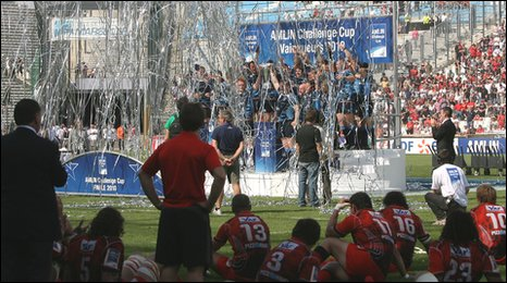 Cardiff Blues bask in European glory as the Toulon players look on in despair
