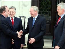 Alex Salmond, Peter Robinson, Martin McGuinness and Carwyn Jones