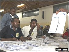 Polling centre in Addis Ababa on 23/05/2010