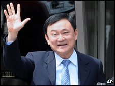 Thaksin Shinawatra, in Montenegro on 26 April 2010