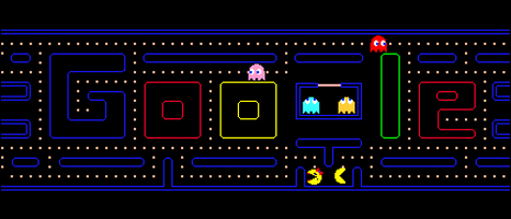 Google logo Pacman game