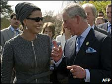 Sheikha Mozah bint Nasser Al Missned, Consort of the Emir of Qatar  and Prince Charles