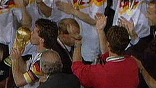 West Germany win 1990 World Cup final