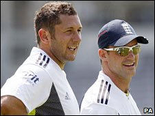 England all-rounder Tim Bresnan and captain Andrew Strauss
