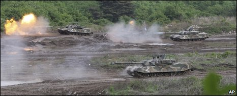 South Korean K1 tanks on exercises in Yeoncheon, 25 May