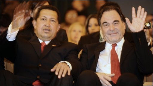 Chavez and Stone watched South of the border at the Venice film festival