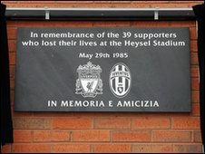 The plaque unveiled at Anfield