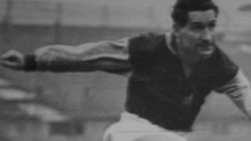 Ivor Powell as a young man playing football