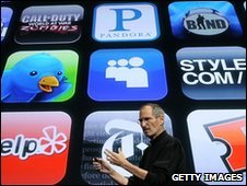 Apple apps plus Steve Jobs