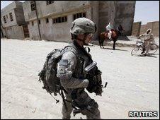 US soldier in Kandahar