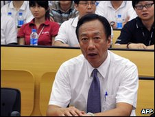 Foxconn chairman Terry Gou in Shenzhen, China (26 May 2010)