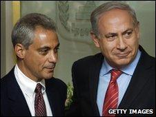 Rahm Emanuel (left) Benjamin Netanyahu (right)
