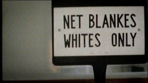 Sign saying 'Whites only'
