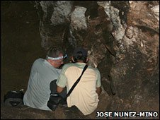 Inside a cave in the Dominican Republic (Jose Nunez-Mino)