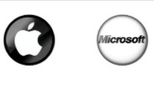Apple and Microsoft logos