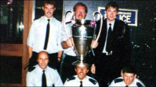 Police with the European Cup