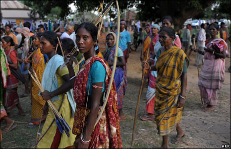 Tribespeople in Lalgarh, West Midnapore